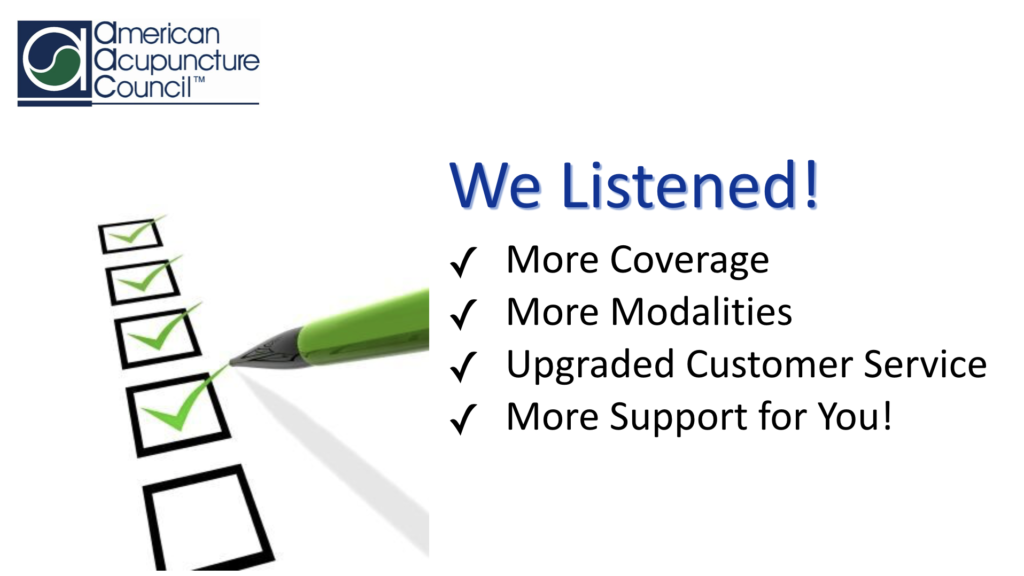 We Listened and provide more coverage